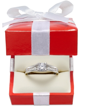 X3 Diamond Engagement Ring in 18k White Gold (1 ct. t.w.)