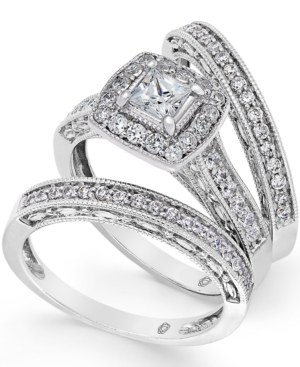 Diamond Engagement Ring Bridal Set (1 ct. t.w.) in 14k White Gold