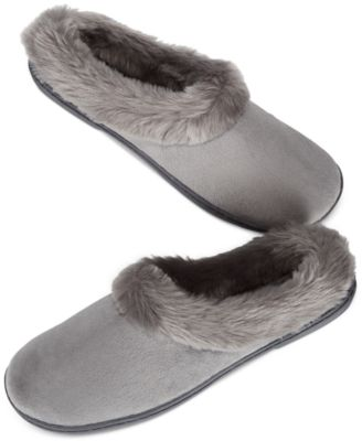 Image of Charter Club Microvelour Clog Memory Foam Slippers, Only at Macy's