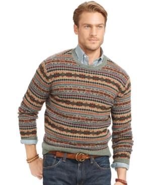 Polo Ralph Lauren Fair Isle Wool Sweater $167.99 AT vintagedancer.com