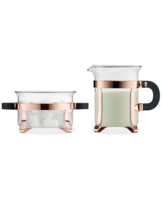 Bodum Chambord Classic Copper Sugar & Creamer Set