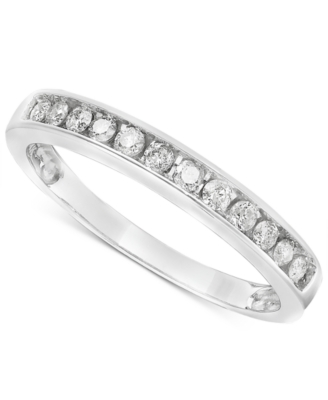 14k White Gold Diamond Band Ring (1/4 ct. t.w.)