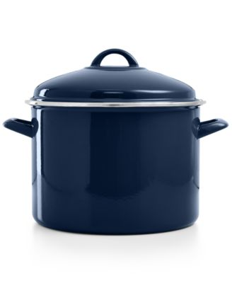 CLOSEOUT! Martha Stewart Collection 10 Qt. Enamel on Steel Stockpot, Only at Macy's