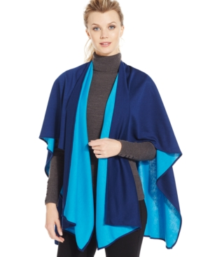 Echo Solid Reversible Poncho