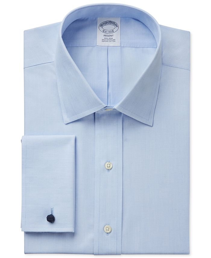 Brooks Brothers - Classic Fit Non-Iron Solid French Cuff Dress Shirt
