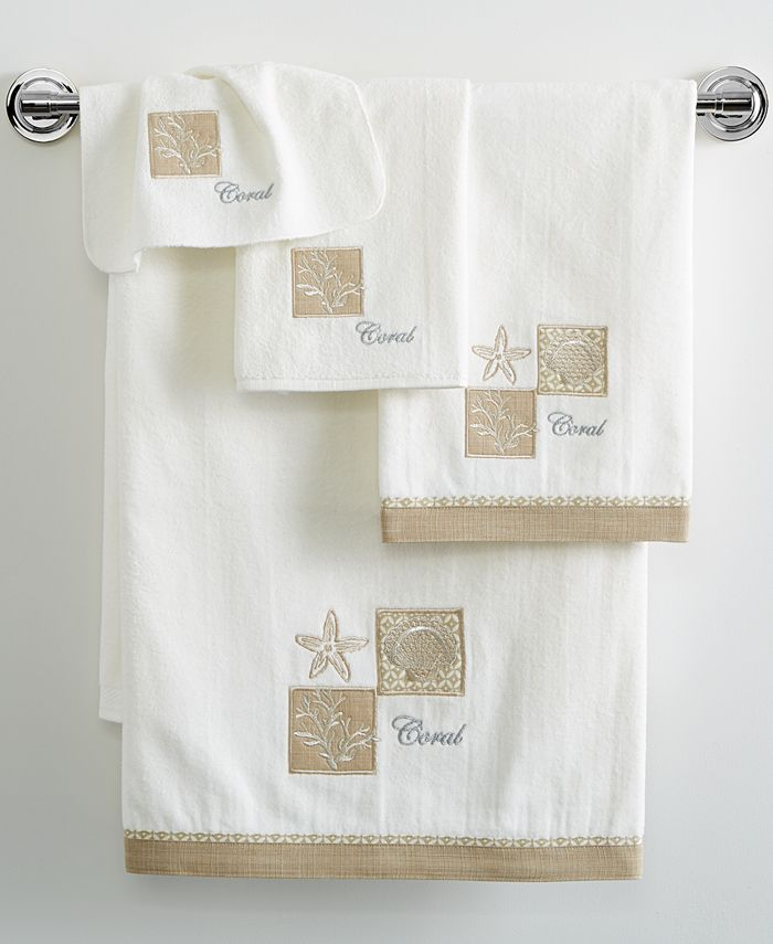"Avanti - Metallic Shells 27"" x 50"" Bath Towel"