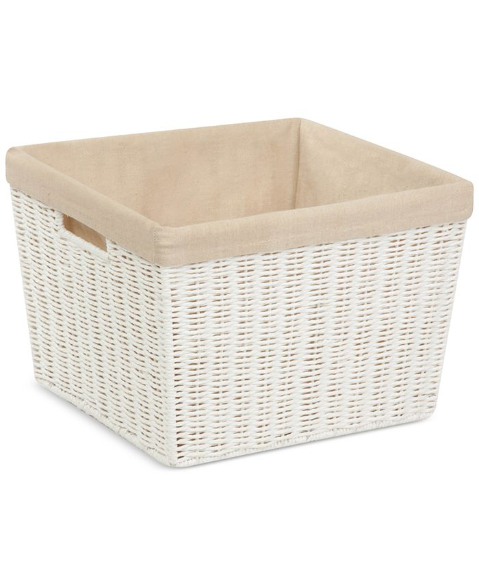 Honey Can Do - Parchment Cord Basket with Liner