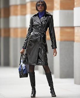 Macy*s - Women's - Calvin Klein Belted Slicker :  waist tie rain coat calvin klein women