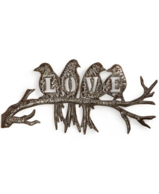 "Heart of Haiti Recycled Metal ""Love"" Birds Wall Art"