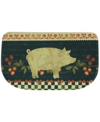"""Bacova Kitchen, Retro Pig 18"""" x 30"""" Rug"""