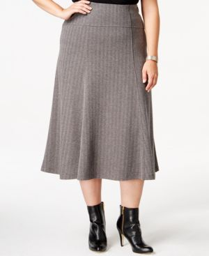 Jm Collection Plus Size A-Line Skirt, Only at Macy's