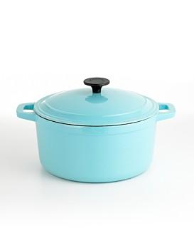Blue Cast Iron Chili Pot, 5.5 Qt.