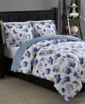CLOSEOUT! Emily Reversible 3-Piece Full/Queen Comforter Set