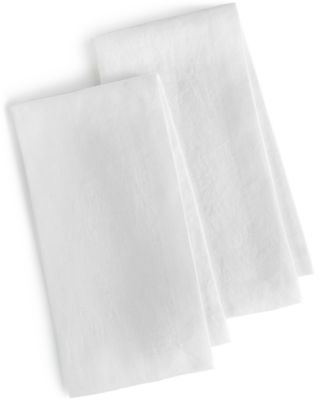Hotel Collection Linen 2-Pc. Modern White Napkins, Only at Macy's