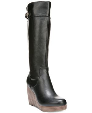 Dr. Scholl's Heathrow Wide Calf Tall Wedge Boots Women's Shoes