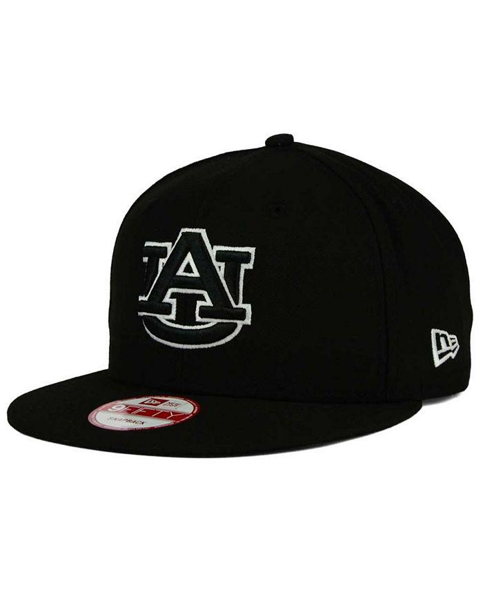New Era - Auburn Tigers Black White 9FIFTY Snapback Cap