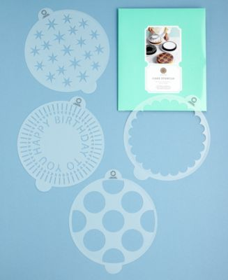 Martha Stewart Collection 4-Piece Birthday Cake Stencil Set