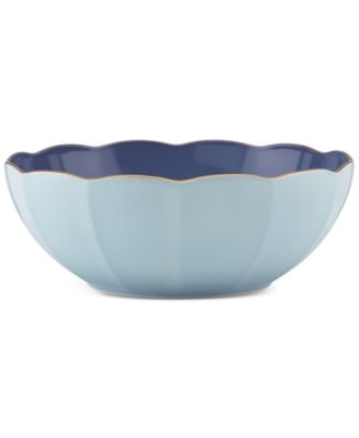 Marchesa by Lenox Dinnerware Ironstone Shades of Blue Serving Bowl