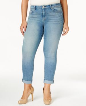 Style & Co. Plus Size Curvy-Fit Highline Wash Boyfriend Jeans, Only at Macy's