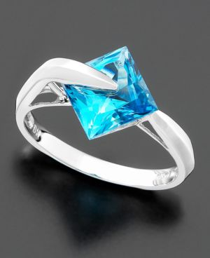14k White Gold Blue Topaz Ring (2-7/8 ct. t.w.)