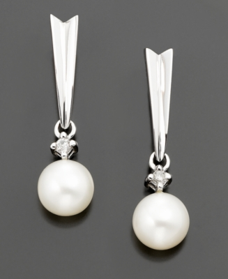 Dangling Pearl Earrings - Macy's