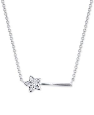 Disney Crystal Wand Pendant Necklace in Sterling Silver