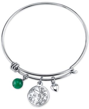 Disney Tinkerbell Dreaming of You Bangle Bracelet in Stainless Steel with Silver-plated...