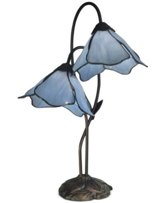Dale Tiffany Poelking 2 Lite Lily Metal Table Lamp
