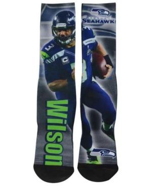 For Bare Feet Kids' Russell Wilson Seattle Seahawks Player Socks