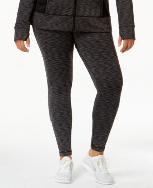 Ideology Plus Size Id Warm Printed Active Leggings, Only at Macy's