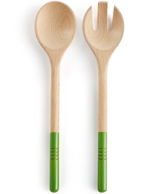Martha Stewart Collection 2-Pc. Wood Salad Server Set, Only at Macy's