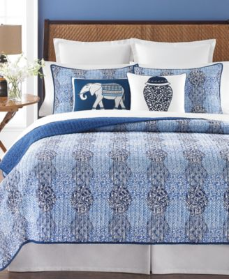 Martha Stewart Collection Indigo Dream King Quilt, Only at Macy's