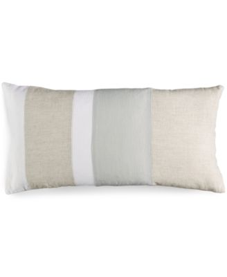 "Hotel Collection Linen Natural 12"" x 24"" Decorative Pillow"