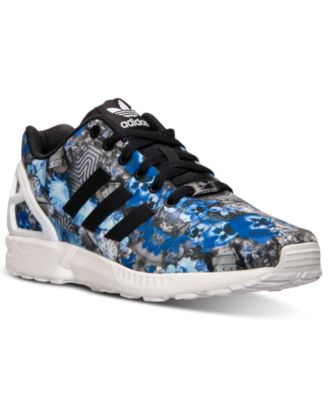 ZX Flux Floral Print Running Sneakers