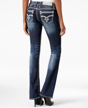 Rock Revival Dee Bootcut Dark Blue Wash Jeans  Only at Macy's