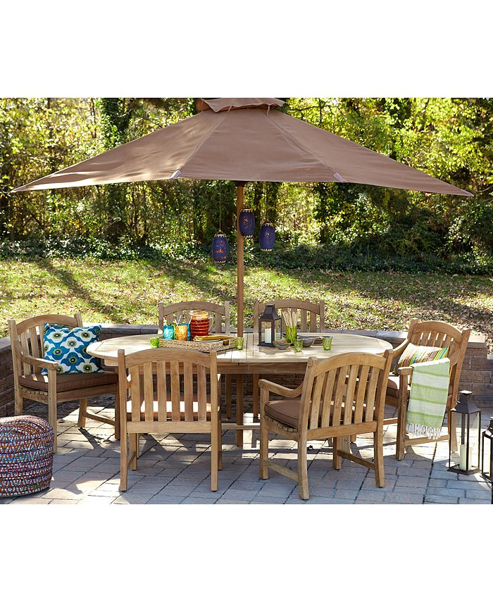 Furniture - Bristol Outdoor 7-Pc. Set (Table & 6 Dining Chairs)