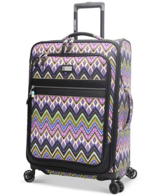 "Steve Madden Patchwork 25"" Expandable Spinner Suitcase, Only at Macy's"