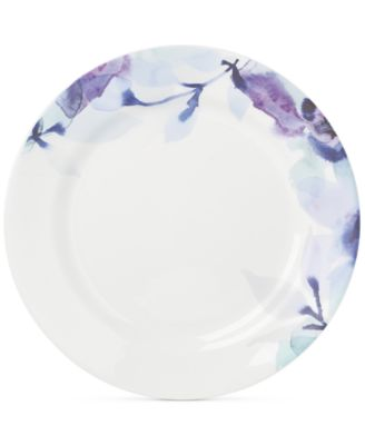 Lenox Indigo Watercolor Floral Porcelain Dinner Plate, A Macy's Exclusive Style