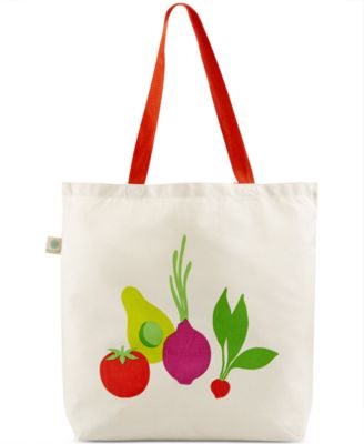 Martha Stewart Collection Fresh Flavors Canvas Tote, Only at Macy's