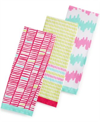 Martha Stewart Collection Whim 3-Pc. Pixel Perfect Kitchen Towel Set, Only at Macy's