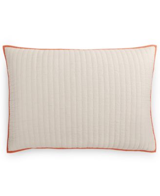 Hotel Collection Textured Lattice Linen Quilted King Sham, Only at Macy's