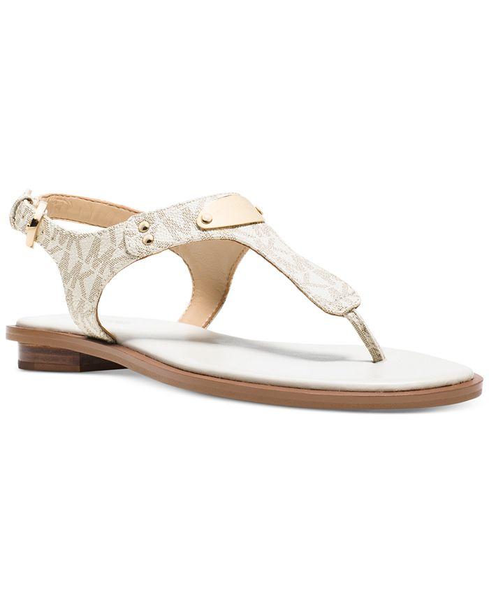 Michael Kors - MK Plate Flat Thong Sandals