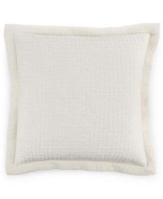 Hotel Collection Linen Poppy Quilted European Sham, Only at Macy's