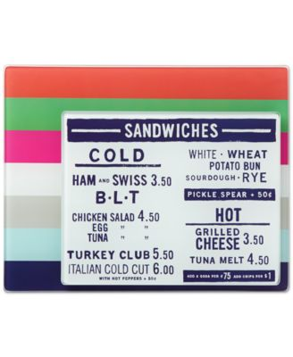 kate spade new york all in good taste Set of 2 Striped Food Prep Board, Only at Macy's