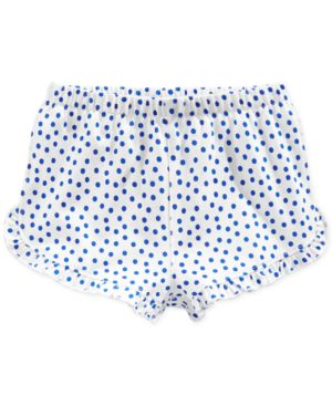 First Impressions Baby Girls' Blue Dot Shorts, Only at Macy's