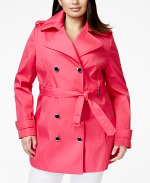 Calvin Klein Plus Size Double-Breasted Trench Coat plus size,  plus size fashion plus size appare