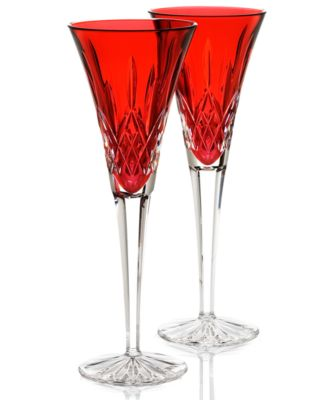 Waterford Stemware, Colour Me Lismore Toasting Flutes, Set of 2