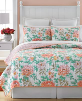Martha Stewart Collection Village Peony Full/Queen Quilt, Only at Macy's