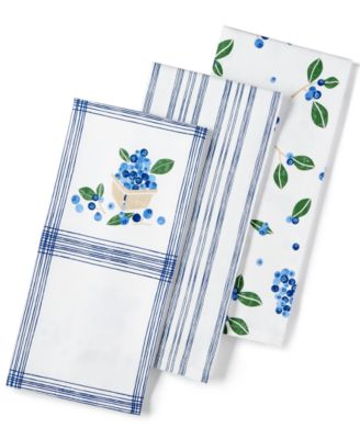 Martha Stewart Collection 3-Pc. Blueberry Towel Set, Only at Macy's