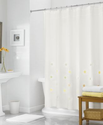 "Martha Stewart Collection 72"" x 72"" Rosette Embroidered Shower Curtain, Only at Macy's"